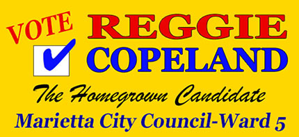 Elect Reggie Copeland on November 7, 2017