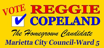 Elect Reggie Copeland on November 7, 2017